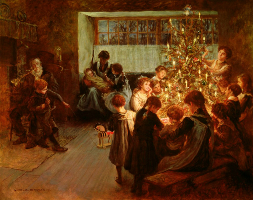 Christmas Tree, Albert Chevallier Tayler, 1911.
