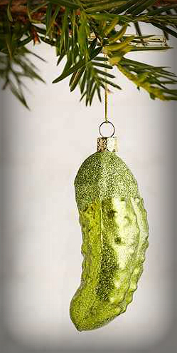 Christmas Pickle Ornament.
