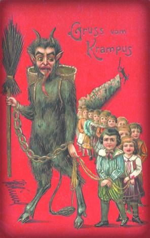 Krampus Greeting Card, 1900s.