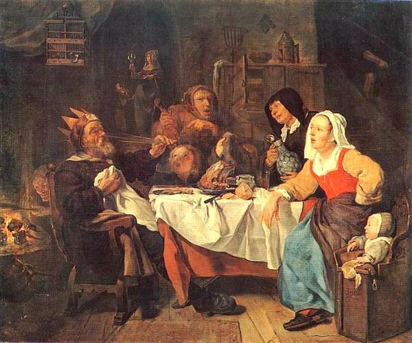 Feast of the Bean King, Gabriël Metsu, 1600s. Image: Wikipedia.
