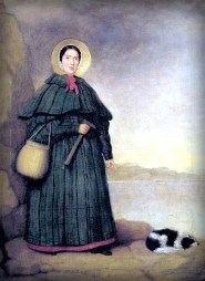Mary Anning With Dog Tray, Golden Cap Outcrop: Natural History Museum, London.