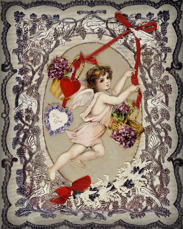 Victorian Era Valentine. Image: Wikipedia.