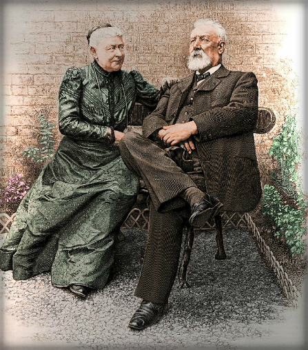 Jules Verne and Madame Verne, 1905. Image: Wikipedia.