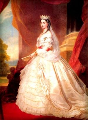 Empress Carlotta, Chapultepec Castle 1864, by Winterhalter.
