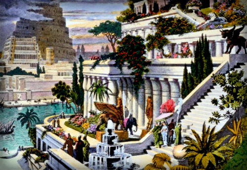 Hanging Gardens of Babylon. Image: Wikipedia.
