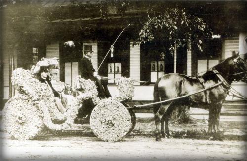 San Antonio Battle of Flowers Parade, Peacock Academy, 1906. Image: Jean Dugat.