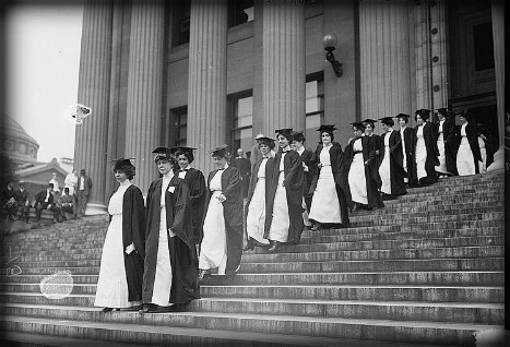 Winifred Edgerton Merrill, Barnard College, June 4, 1913. Image: Library of Congress.