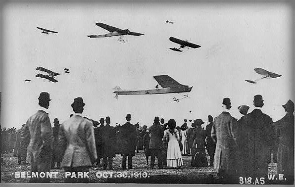 Belmont Park Air Show, Oct. 30, 1910. Image: Library of Congress.