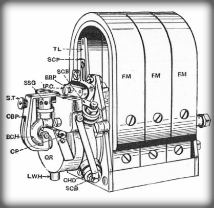 Frederick Richard Simms-Bosch-Magneto. Image: (Rankin Kennedy, Electrical Installations, 1909).