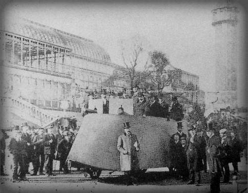 First Armored Cars: Frederick Richard Simms, War Car at Crystal Palace, London, 1902. Image: Wikipedia.