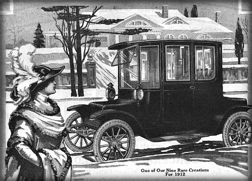Victorian Era Electric Cars; Detroit Electric Ad, 1912. Image: Wikipedia.
