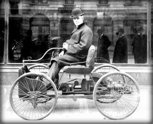 Henry Ford Quadricycle, Newsweek 1896.
