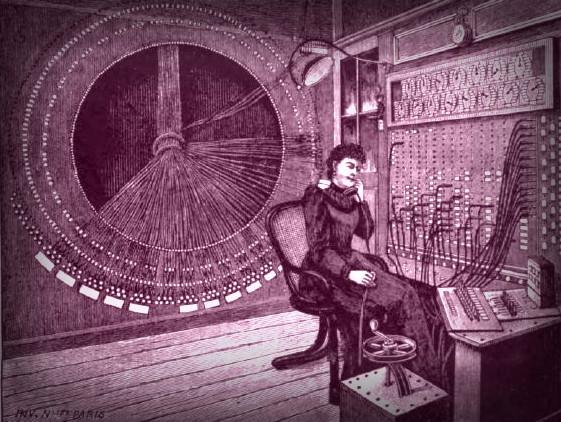 Victorian Era Operator. Image: Scientific American, 1892.