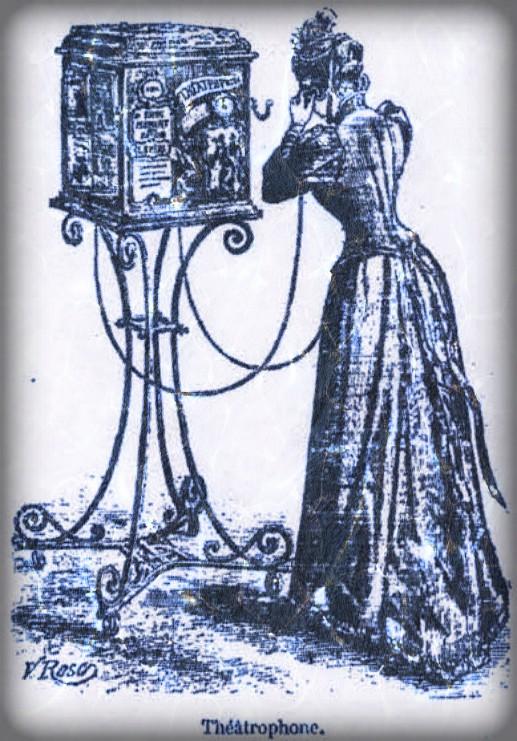 Victorian Era Theatrophone-Perron, 1892. Image: Wikipedia.