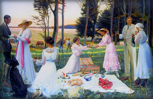 Harald Slott-Moller: Afternoon Picnic, Date Unknown. Image: Wikipedia.