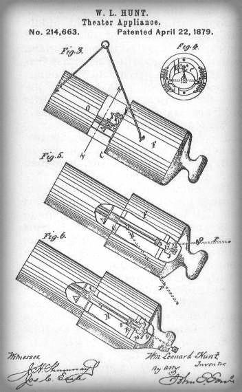 W.L. Hunt Human Cannonball Patent.