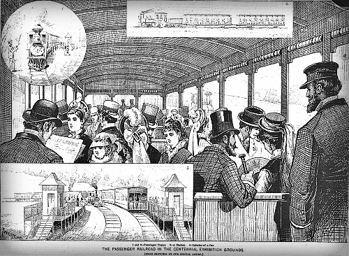 Centennial Exposition 1876, Monorail. Image: Philadelphia Free Library.