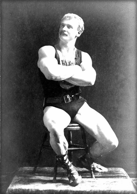 Strongman Eugen Sandow. Image: Wikipedia.
