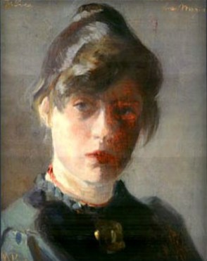 Marie Kroyer-Self Portrait, 1889. Image: Wikipedia.