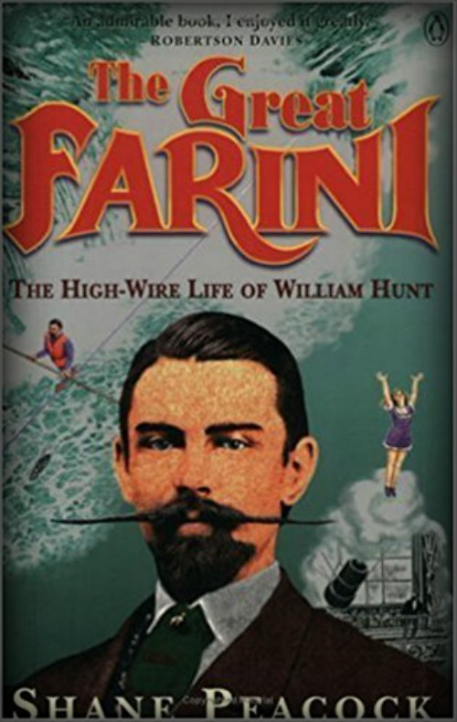 The Great Farini, 1995: Book Cover by Shane Peacock.
