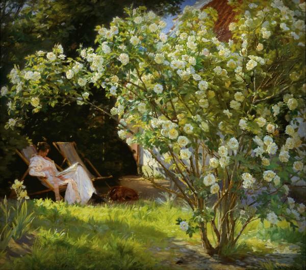 Peder Severin Kroyer: Rose Garden, 1893. Image: Wikipedia.