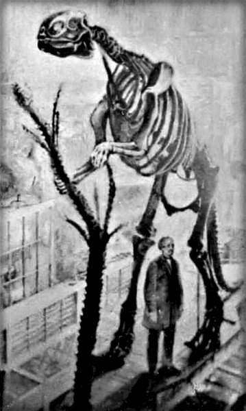 Hawkins With Hadrosaurus Foulkii, 1868. Image: Wikipedia.