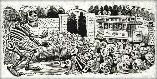 Grand Electric Skull (Gran calavera eléctrica), circa 1910. Image: Library of Congress.