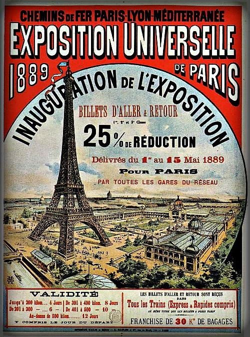 Paris Exposition, 1889. Image: Wikipedia.
