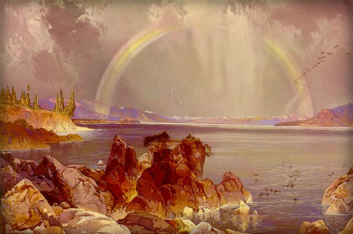 Thomas Moran Yellowstone Paintings: Yellowstone Lake. Image: Library of Congress.