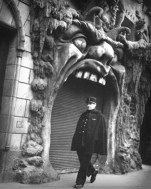 Cabaret Of Hell, Paris. Image: by Eugène Atget Public Domain.
