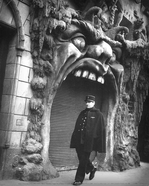 Cabaret Of Hell, Paris. Image: by Eugène Atget Public Domain.