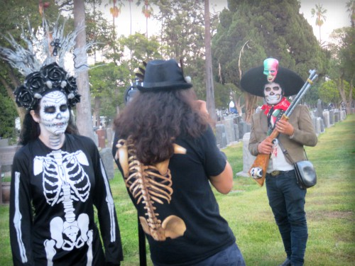 Los Angeles Hollywood Cemetery, Day of the Dead. Image: B. Rose.