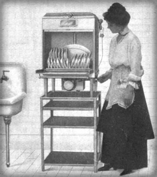 Electric Dishwashing Machine, 1917. Image: Wikipedia.