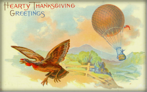 Vintage Thanksgiving Postcards. Image: Public Domain.