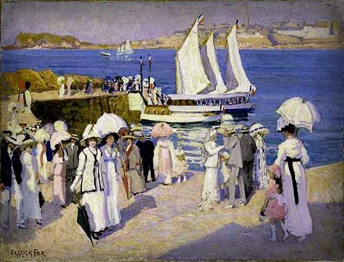 Ethel Carrick Fox, The Quay-at Dinard, 1911. Image: artnet.com.
