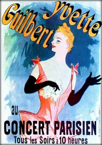 Folies-Bergère: Yvette Guilbert by Jules Chéret, 1891. Image: Wikipedia.