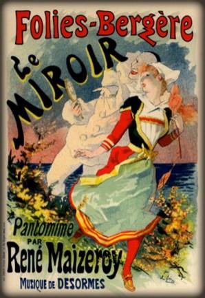 Follies Bergere, Le Miroir by Jules Chéret, 1896-1900. Image: Wikipedia.