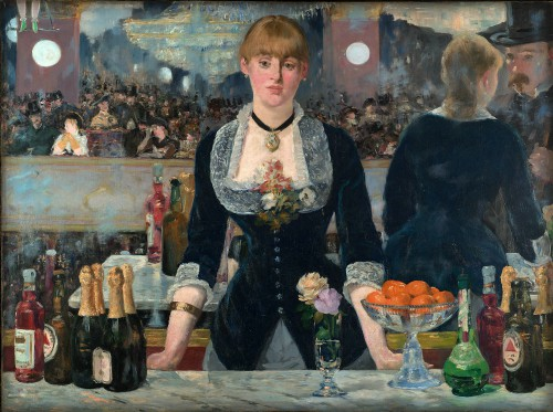 A Bar at the Folies Bergère by Édouard Manet , 1881-2. Image: Wikipedia.