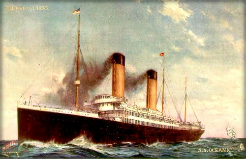 Victorian New Year, Nellie Bly: Oceanic. Image: GreatShips.net.