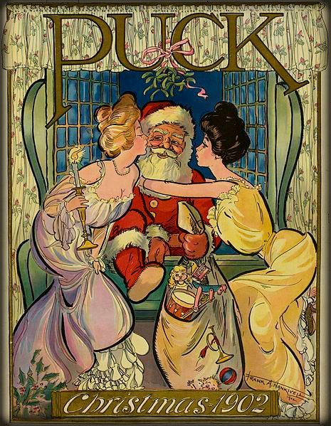 Victorian Santa, 1902 Cover Of Puck Magazine. Image: Wikipedia.