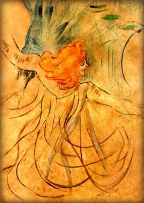 Loie Fuller by Toulouse-Lautrec, 1892. Image: Wikipedia.