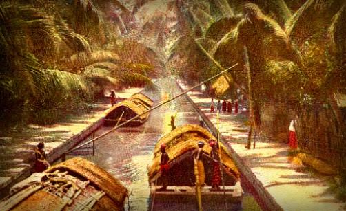 Victorian New Year: Negombo Canal Paddle Boats, Ceylon. Image: http://lankapura.com.