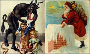 Krampus And Saint Nick. Image: RacingNellieBly.com.