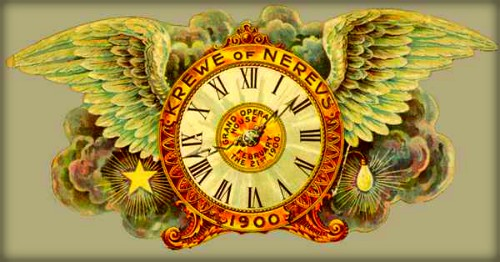 Nineteenth-Century Mardi Gras Invitation, 1900: Krewe of Nereus Carnival Ball. Image: Wikimedia.