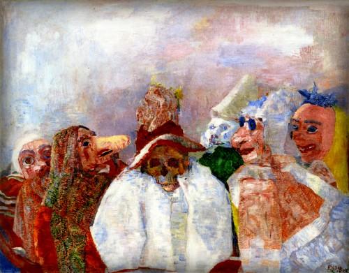 James Ensor: Masks Mocking Death, 1888. Image: Wikimedia.