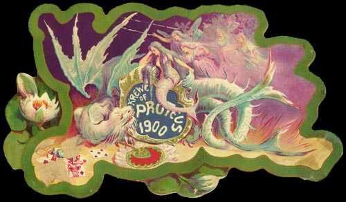 Nineteenth-Century Mardi Gras Invitations: Proteus, 1900. Image: New Orleans Public Library.Victorian Era Mardi Gras Invitation: Proteus, 1900. Image: New Orleans Public Library.