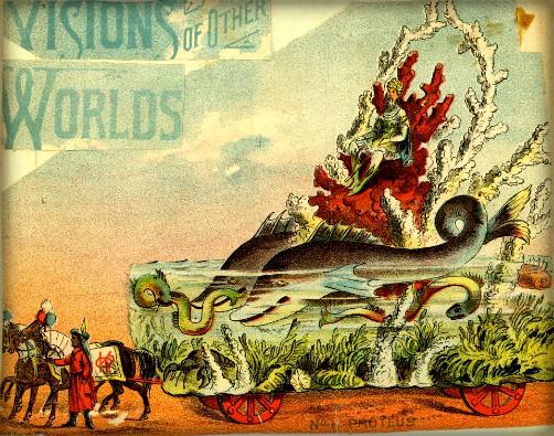 Mystic Krewe of Comus Float, 1886. Image: Flashback.com.