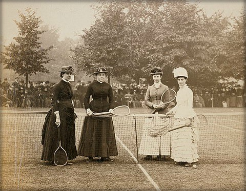 Women Tennis Players, 1900. Image: Library of Congress.