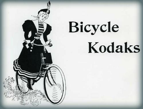 Bicycle Kodaks, 1897. Image: CraigCamera.com.