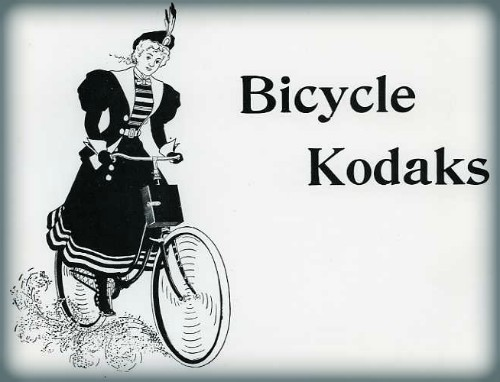 Bicycle Kodaks, 1897. Image: CraigCamera.com.
